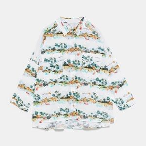 Zara palm tree shirt